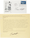 Explorers:Space Exploration, Chris Kraft Signed Mercury-Related Teletype and Souvenir Cover.... (Total: 8 Items)