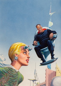 EDMUND (EMSH) EMSHWILLER (American, 1925-1990) Enigma from Tantalus, Amazing Stories digest cover, Octo