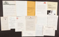 Autographs:Letters, Baseball Greats Signed Letters Lot of 13....