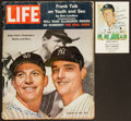"""Baseball Collectibles:Others, Mickey Mantle Signed """"LIFE"""" Magazine and Card Lot of 2...."""