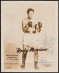 Boxing Collectibles:Autographs, Rocky Marciano Signed Photograph....