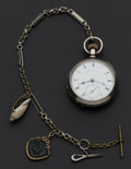 Timepieces:Pocket (pre 1900) , Waltham Coin Silver Key Wind Pocket Watch. ...