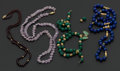 Estate Jewelry:Necklaces, A Group Four Miscellaneous Stone Necklaces. ...