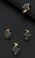 Estate Jewelry:Coin Jewelry and Suites, Mystic Topaz & Diamond Earring Pendant & Ring. ...