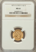 Liberty Quarter Eagles: , 1873 $2 1/2 Closed 3 MS61 NGC. NGC Census: (104/232). PCGSPopulation (28/185). Mintage: 55,225. Numismedia Wsl. Price for ...