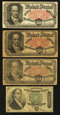 Fractional Currency:Fourth Issue, Fr. 1379 50¢ Fourth Issue Dexter Very Good;. Three Fr. 1380 50¢ Fifth Issue Notes Good or Better.. ... (Total: 4 notes)