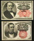 Fractional Currency:Fifth Issue, Fr. 1266 10¢ Fifth Issue Choice New;. Fr. 1308 25¢ Fifth Issue Very Fine-Extremely Fine.. ... (Total: 2 notes)