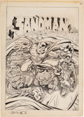 Original Comic Art:Covers, Joe Simon Studio Sandman #1 Alternate Unpublished CoverOriginal Art (DC, c. 1974)....