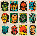 Memorabilia:Comic-Related, Marvelmania Decal Sheet (Marvel, 1969)....