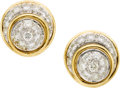 Estate Jewelry:Earrings, Diamond, Gold Earrings, Neiman Marcus. ...