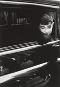 Photographs, DENNIS STOCK (American, 1928-2010). Audrey Hepburn While Filming 'Sabrina', 1954. Gelatin silver, printed later. 14 x 9-...