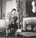 Photographs, LOUISE DAHL-WOLFE (American, 1895-1989). Coco Chanel in her Apartment, 1954. Gelatin silver, printed later. 11 x 10-3/4 ...