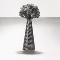 Photographs:20th Century, ROBERT MAPPLETHORPE (American, 1946-1989). Carnations withStriped Vase, 1984. Gelatin silver, printed later. 15 x 15in...