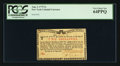 Colonial Notes:New York, New York August 2, 1775 (Water Works) 2s PCGS Very Choice New 64PPQ.. ...