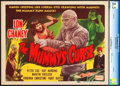 "Movie Posters:Horror, The Mummy's Curse (Realart, R-1951). CGC Graded Title Lobby Card(11"" X 14"").. ..."
