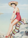 Pin-up and Glamour Art, PEARL ALERYN FRUSH (American, 20th Century). Miss Mexico, AquaTour Series, circa 1945. Watercolor on board. 17.5 x 13 i...