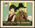 """Movie Posters:Drama, The Runaway (Paramount, 1926). Title Lobby Card (11"""" X 14"""").. ..."""