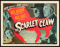 "The Scarlet Claw (Universal, 1944). Title Lobby Card (11"" X 14"")"