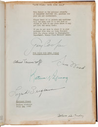 """A Gary Cooper, Ingrid Bergman, and Others Signed Presentation Script from """"For Whom the Bell Tolls."""""""