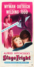"""Movie Posters:Hitchcock, Stage Fright (Warner Brothers, 1950). Three Sheet (41"""" X 79.5"""").. ..."""