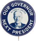 Political:Pinback Buttons (1896-present), Al Smith: Rare New York Issue Picture Pin....