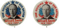 Political:Pinback Buttons (1896-present), Al Smith: Matching Pair of Guiding Star Buttons.... (Total: 2 Items)