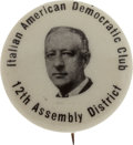 Political:Pinback Buttons (1896-present), Al Smith: Possibly Unique Ethnic Picture Pin....