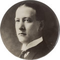 Political:Pinback Buttons (1896-present), Al Smith: Early Real Photo Button....