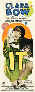 "Movie Posters:Romance, It (Paramount, 1927). Insert (14"" X 36"").. ..."