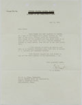 Autographs:Military Figures, Chester W. Nimitz Typed Letter Signed....