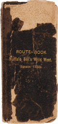 Western Expansion, Buffalo Bill's Wild West: Route Book, 1899....