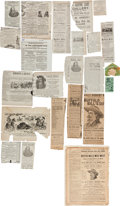 Advertising:Paper Items, Buffalo Bill's Wild West: Collection of Newspaper Advertisementsand Ephemera. ...