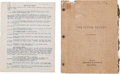 "Movie/TV Memorabilia:Documents, A Stan Laurel Personally-Owned Script from ""The Flying Deuces.""..."