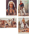 Advertising:Paper Items, Buffalo Bill's Wild West: Four Postcards. ... (Total: 4 Items)