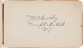 "Autographs:Celebrities, Autograph Book: Includes Buffalo Bill, Johnny Baker, and ""DeathValley Scotty.""..."