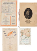 Western Expansion, Buffalo Bill's Wild West: Four Menus. ... (Total: 4 Items)