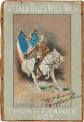 Western Expansion, Buffalo Bill's Wild West: Tour of France Map, 1905....