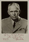 Autographs:Military Figures, George Marshall Signed Photograph....