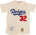 Baseball Collectibles:Uniforms, Sandy Koufax Signed Los Angeles Dodgers Jersey. ...