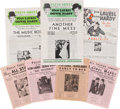 Movie/TV Memorabilia:Documents, A Stan Laurel Personally-Owned Collection of 'Laurel & Hardy'Press Sheets, 1930s....
