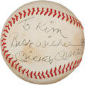 Baseball Collectibles:Hats, Whitey Ford and Mickey Mantle Multi Signed Baseball....