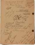 """Movie/TV Memorabilia:Autographs and Signed Items, A Cast and Crew Signed Script from """"The Man in the Iron Mask.""""..."""