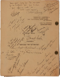 """A Cast and Crew Signed Script from """"The Man in the Iron Mask."""""""