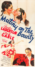 "Movie Posters:Academy Award Winners, Mutiny on the Bounty (MGM, 1935). Three Sheet (41"" X 80"") Style A....."