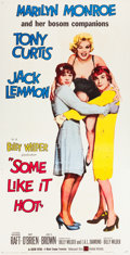"Movie Posters:Comedy, Some Like It Hot (United Artists, 1959). Three Sheet (41"" X80.5"").. ..."