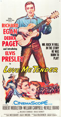 "Movie Posters:Elvis Presley, Love Me Tender (20th Century Fox, 1956). Three Sheet (40.5"" X 78.5"").. ..."