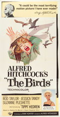"Movie Posters:Hitchcock, The Birds (Universal, 1963). Three Sheet (41"" X 78"").. ..."