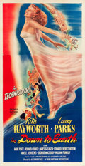 "Movie Posters:Musical, Down to Earth (Columbia, 1947). Three Sheet (41"" X 79.5"").. ..."