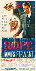 """Movie Posters:Hitchcock, Rope (Warner Brothers, 1948). Three Sheet (41"""" X 80"""").. ..."""