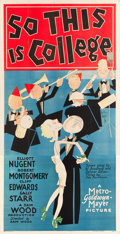 "Movie Posters:Musical, So This is College (MGM, 1929). Three Sheet (41"" X 81"").. ..."